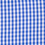 100% poplin cotton in an admiral gingham pattern ideal for shirts, dresses, skirts, pants, and unstructured blazers.