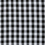 100% poplin cotton in a Dead Sea gingham pattern ideal for shirts, dresses, skirts, pants, and unstructured blazers.