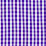 100% poplin cotton in a haze gingham pattern ideal for shirts, dresses, skirts, pants, and unstructured blazers.