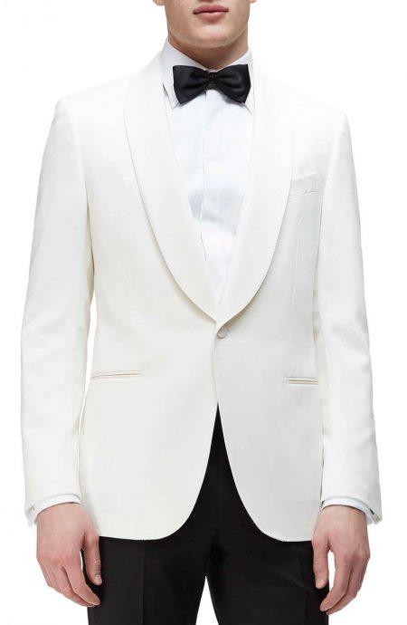 Shawl collar dinner jacket white for men.