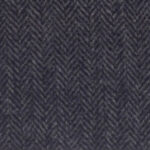 A dark-gray medium weight Italian tweed with a herringbone pattern.