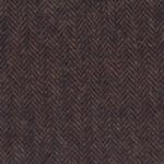 A coffee-brown medium weight Italian tweed with a herringbone pattern.