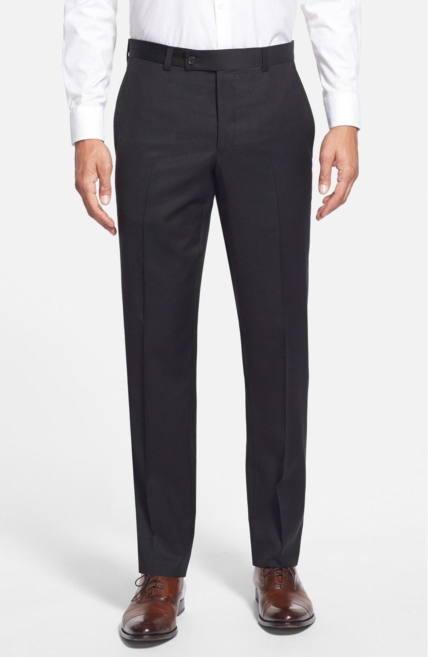 Black slim-fit pants