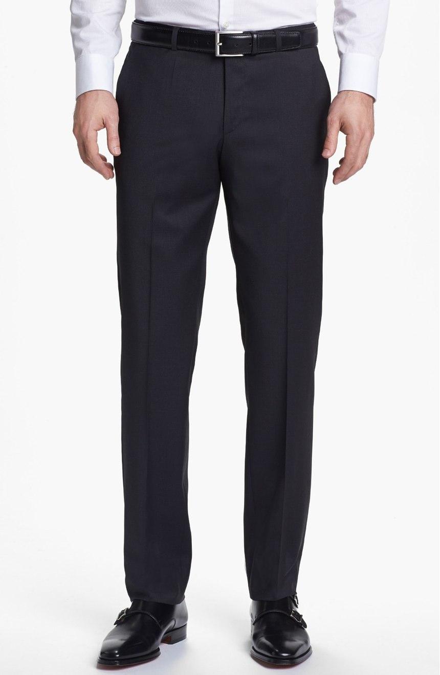 Men's charcoal gray pants.