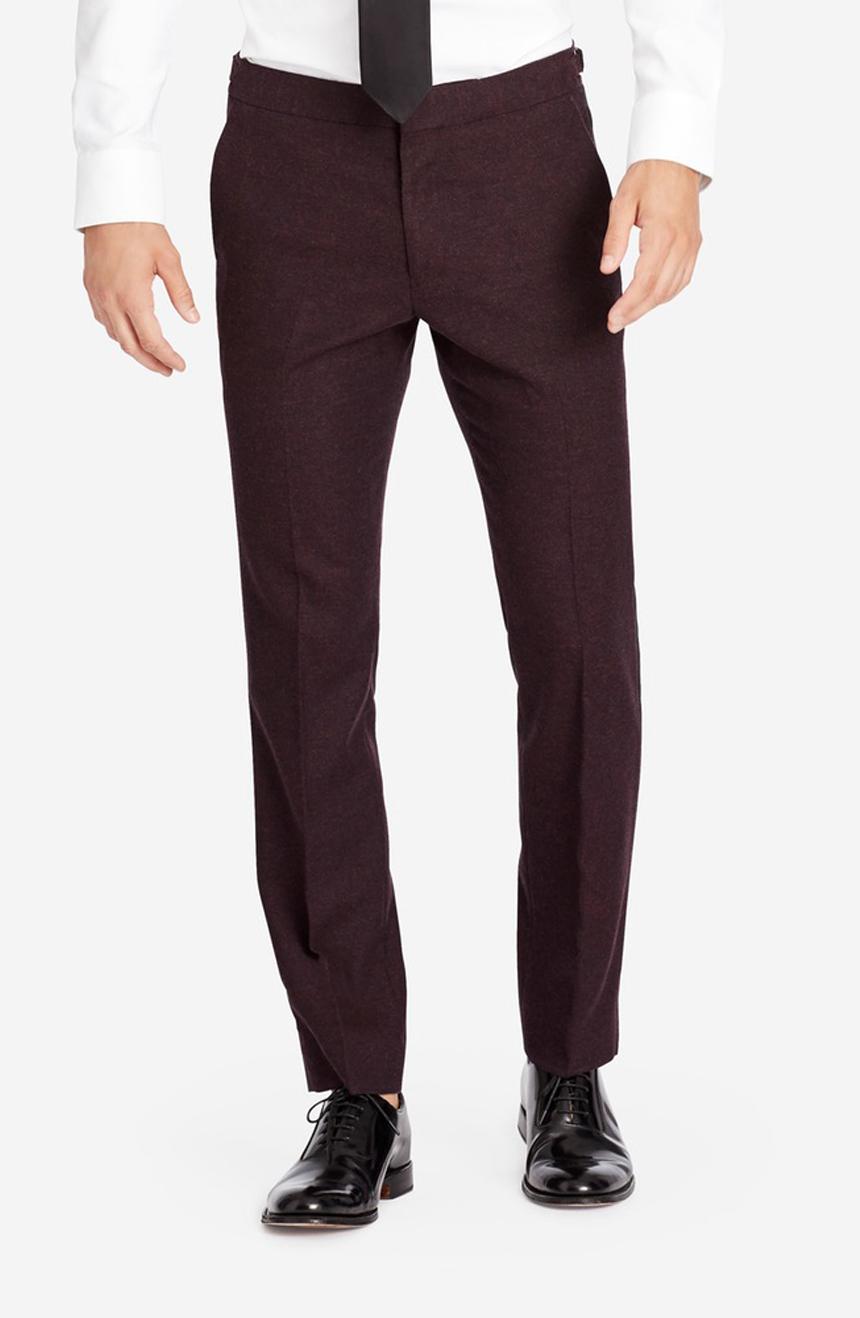 Flannel dress pants in a slim fit.