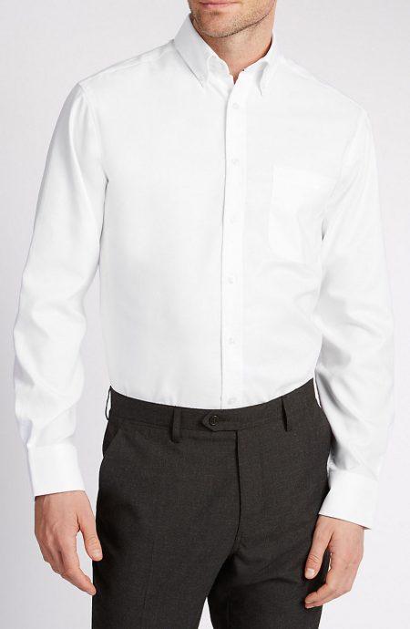Egyptian cotton white dress shirts.
