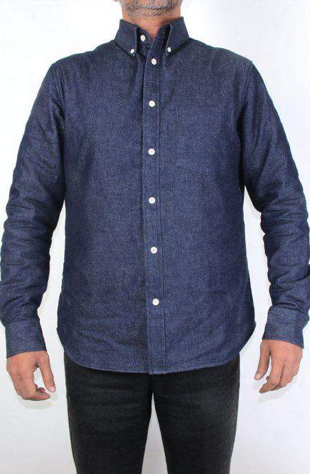 Fleece lined denim shirt.
