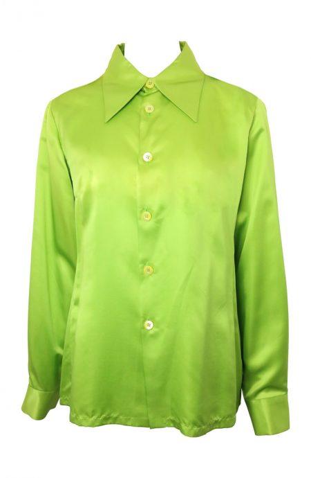 Satin silk shirt.