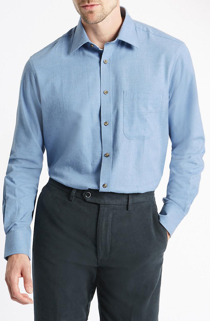 Men's twill dress shirts.