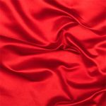 Red satin silk for shirts, dresses, linings, and more.