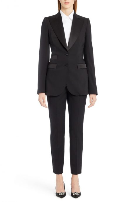 This is an image of mens inspired tuxedo for women.