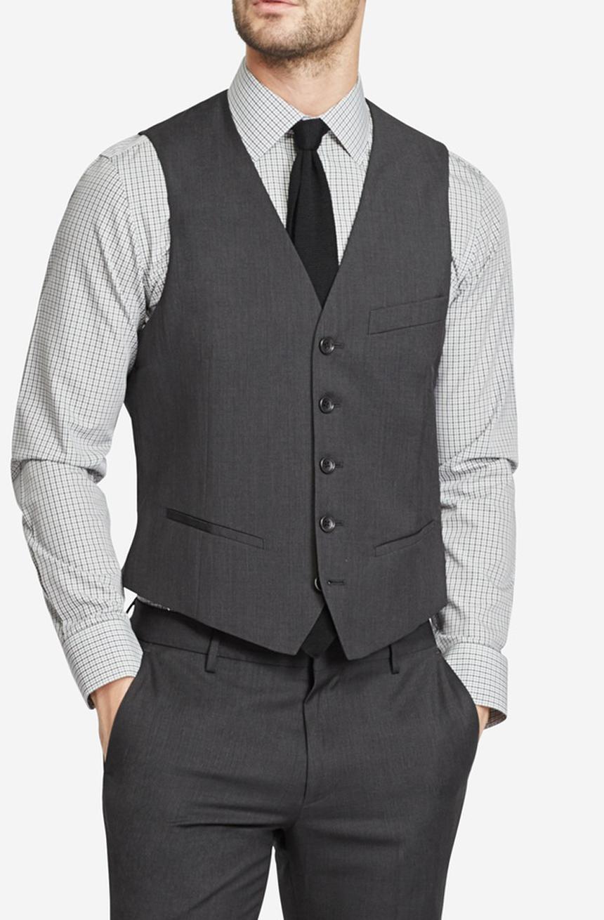 Men's wool dress vest.