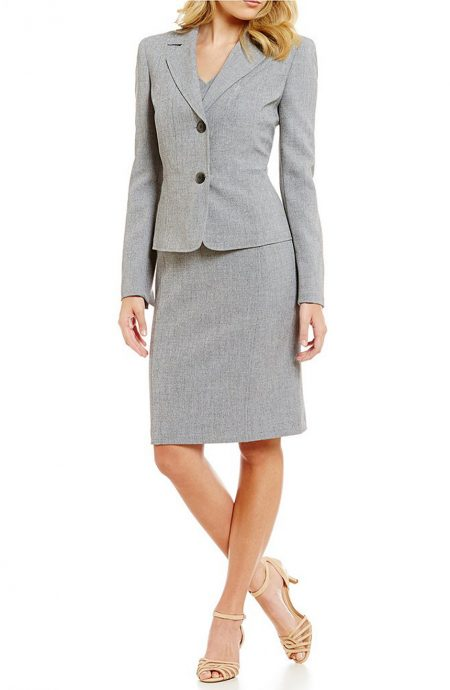 Womens dress suits for weddings, work, and interviews.