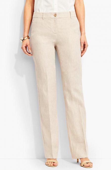 Womens wide leg linen pants.