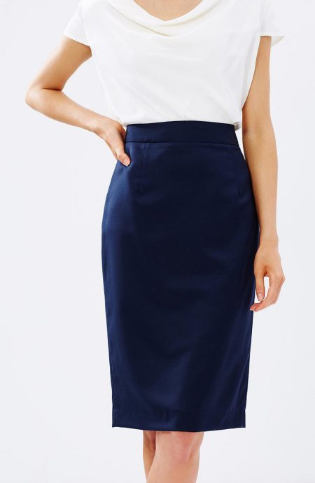 High waisted work skirt for ladies.