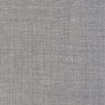 Super 140s' mohair and wool blend fabric in a light grey suitable for suits, dresses, pants, and skirts.