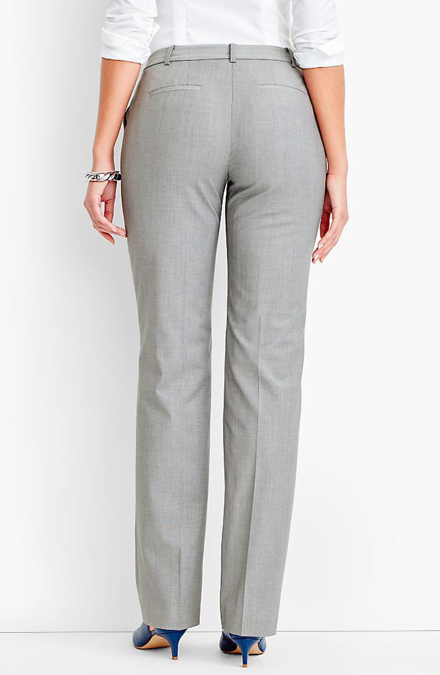 Womens mohair suit pants full back view.