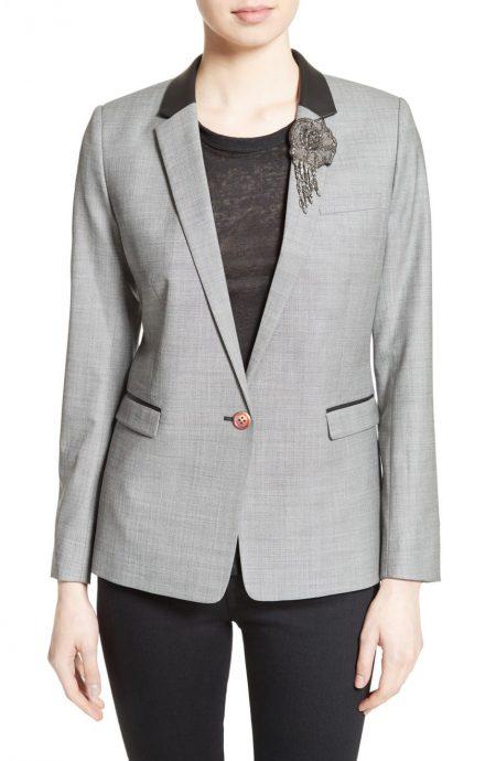 Womens office work blazer jacket in a single-breasted style.
