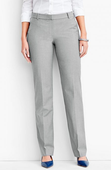 Womens warm weather dress pants with back pockets.