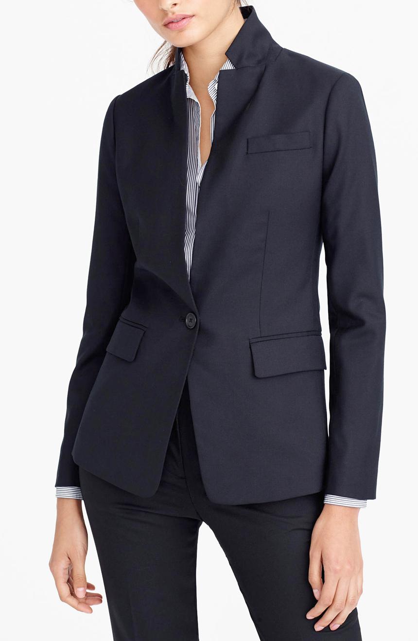 Womens work suit in sharkskin.