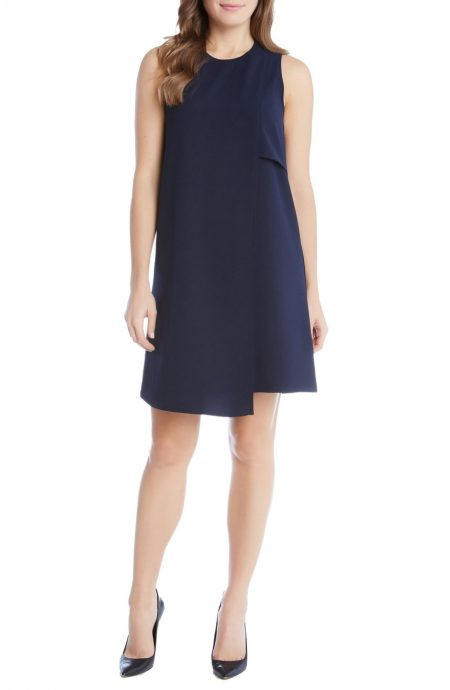 Asymmetrical hem zipper dress suitable for all occasions.