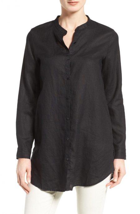 womens oversized shirt in linen.
