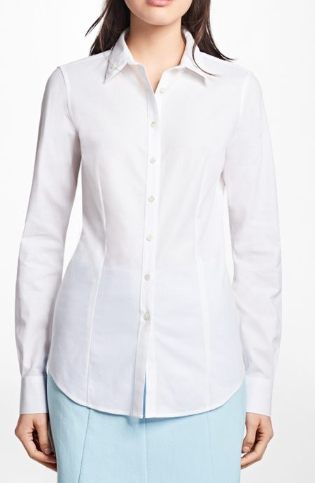Womens tailored shirts with double collar.
