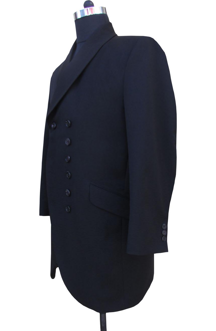 1st Doctor Who black coat full side view.