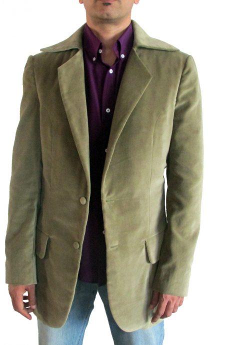 3rd Doctor Who green jacket in velvet.