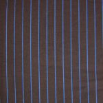 Brown with blue stripes cotton fabric for 10th Doctor Who brown suits.
