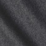 Dark grey color 100% Melton wool fabric in 20 oz weight ideal for suits, coats, overcoats, jackets, vests, pants, and skirts.