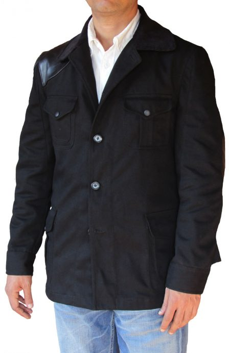 John Watson shooting jacket from BBC Sherlock, a full front view.
