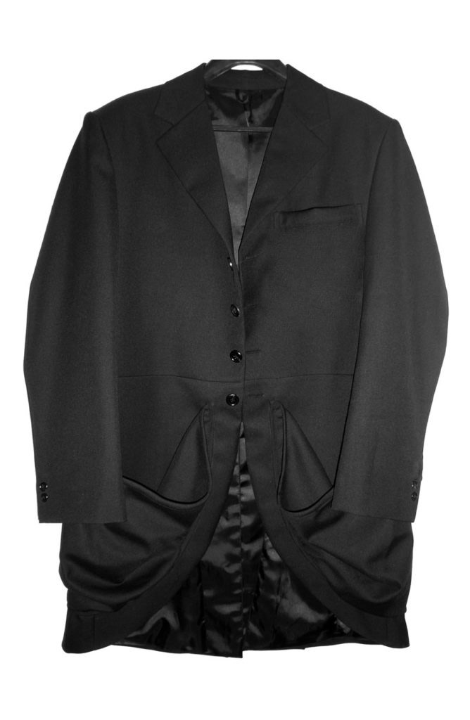 2nd Doctor Who black coat with baggy pockets.
