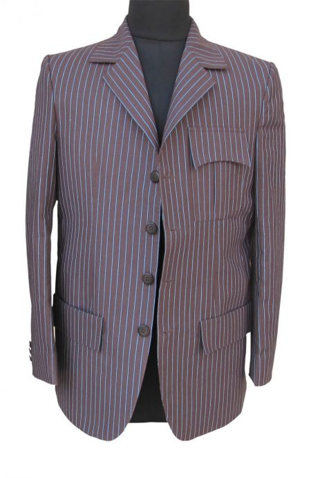 Womens 10th Doctor Who brown pinstripe suit.