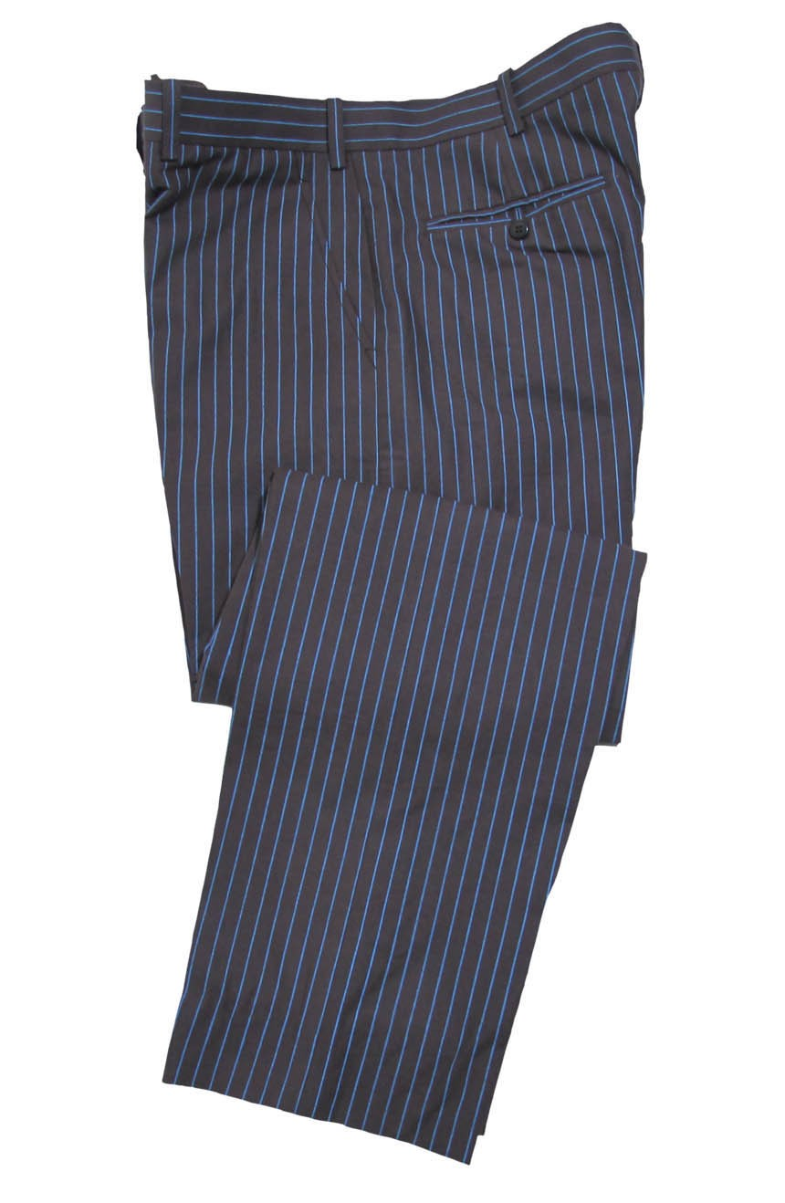 Womens 10th Doctor Who brown pinstripe suit pants.