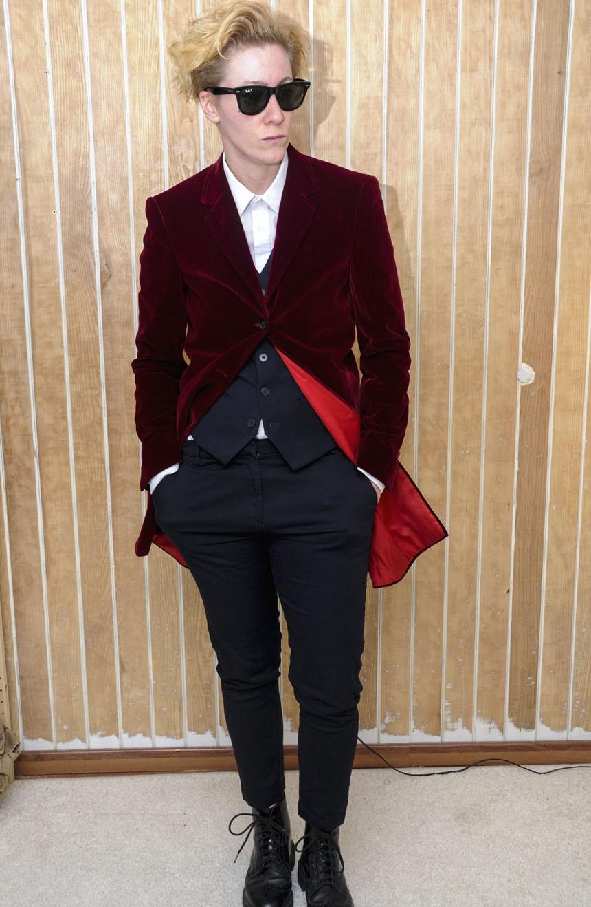 Womens burgundy velvet coat replica from the 12th Doctor Who.