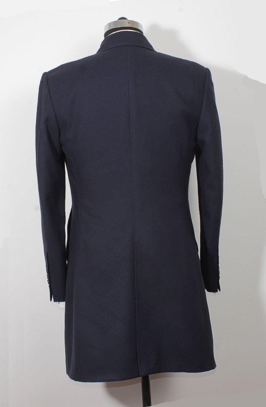 Womens 12th Doctor blue coat back view inspired by Peter Capaldi style.