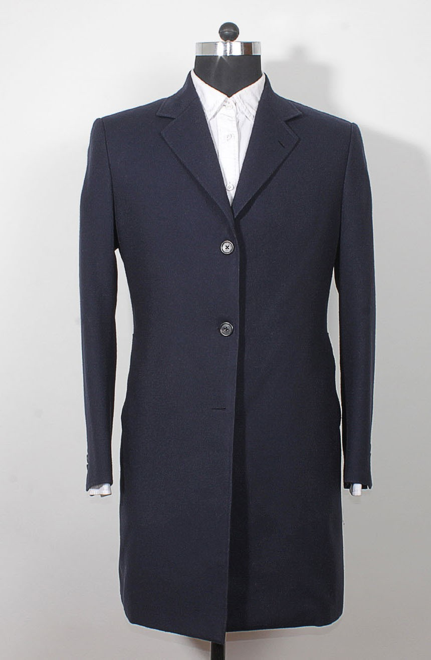 Womens 12th Doctor blue coat front view inspired by Peter Capaldi style.