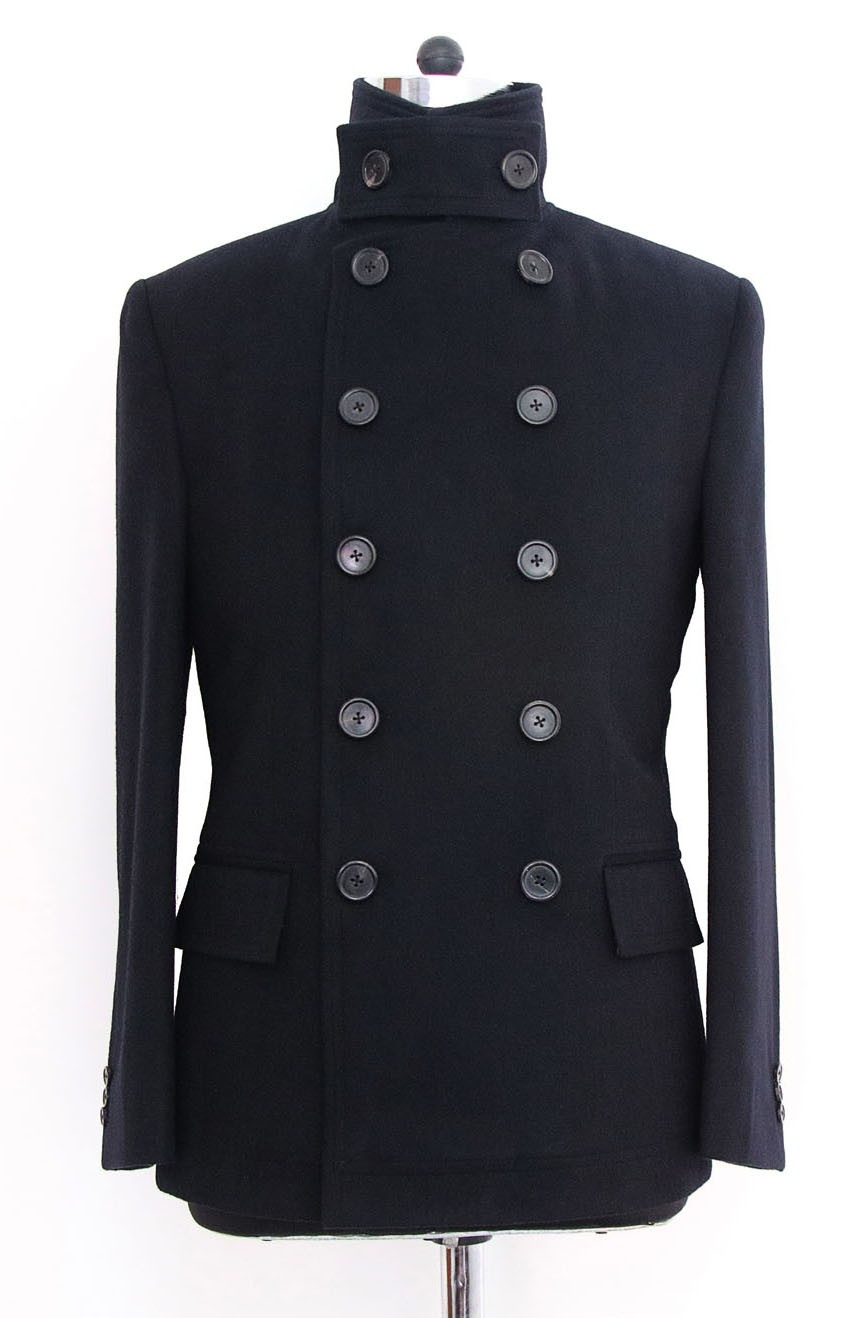 Womens double-breasted short peacoat in Quantum of Solace style.