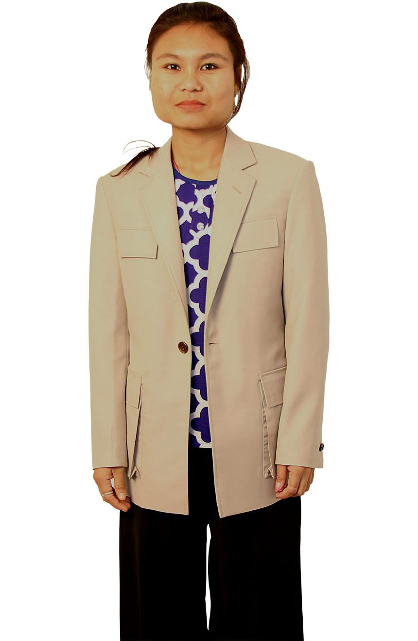 Womens stone utility jacket inspired by 7th Doctor Who Sylvester McCoy.