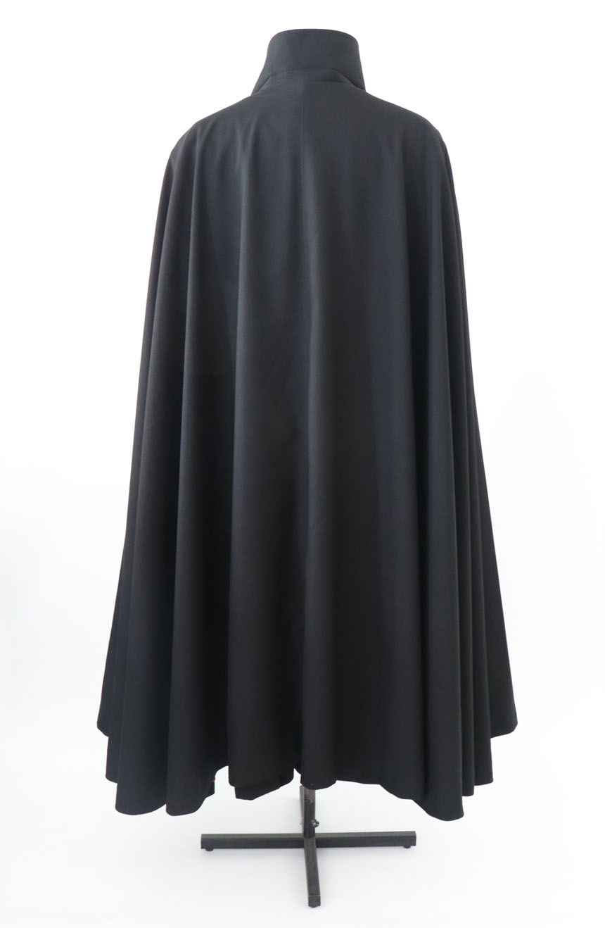 100% screen accurate shadow coat costume replica from the 1994 film The Shadow starring Alec Baldwin. A full-length cape back view.