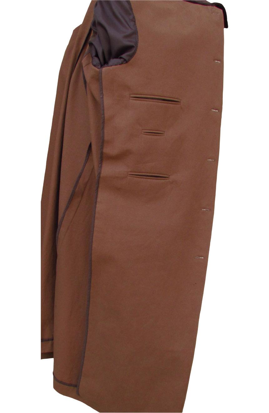Allan Quatermain long coat replica from League of Extraordinary Gentlemen. An interior view.