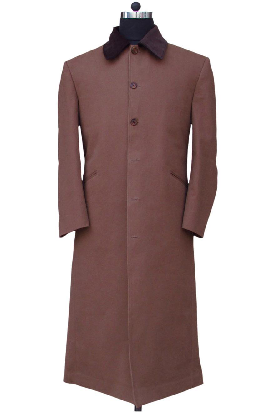 Allan Quatermain long coat replica from League of Extraordinary Gentlemen. A full front view.