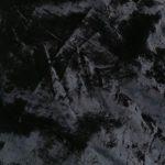 100% cotton velvet crushed black suitable for suits, coats, dresses, and pants.