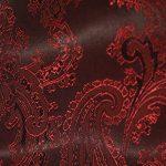 Paisley pattern burgundy Bemberg fabric for garment lining.