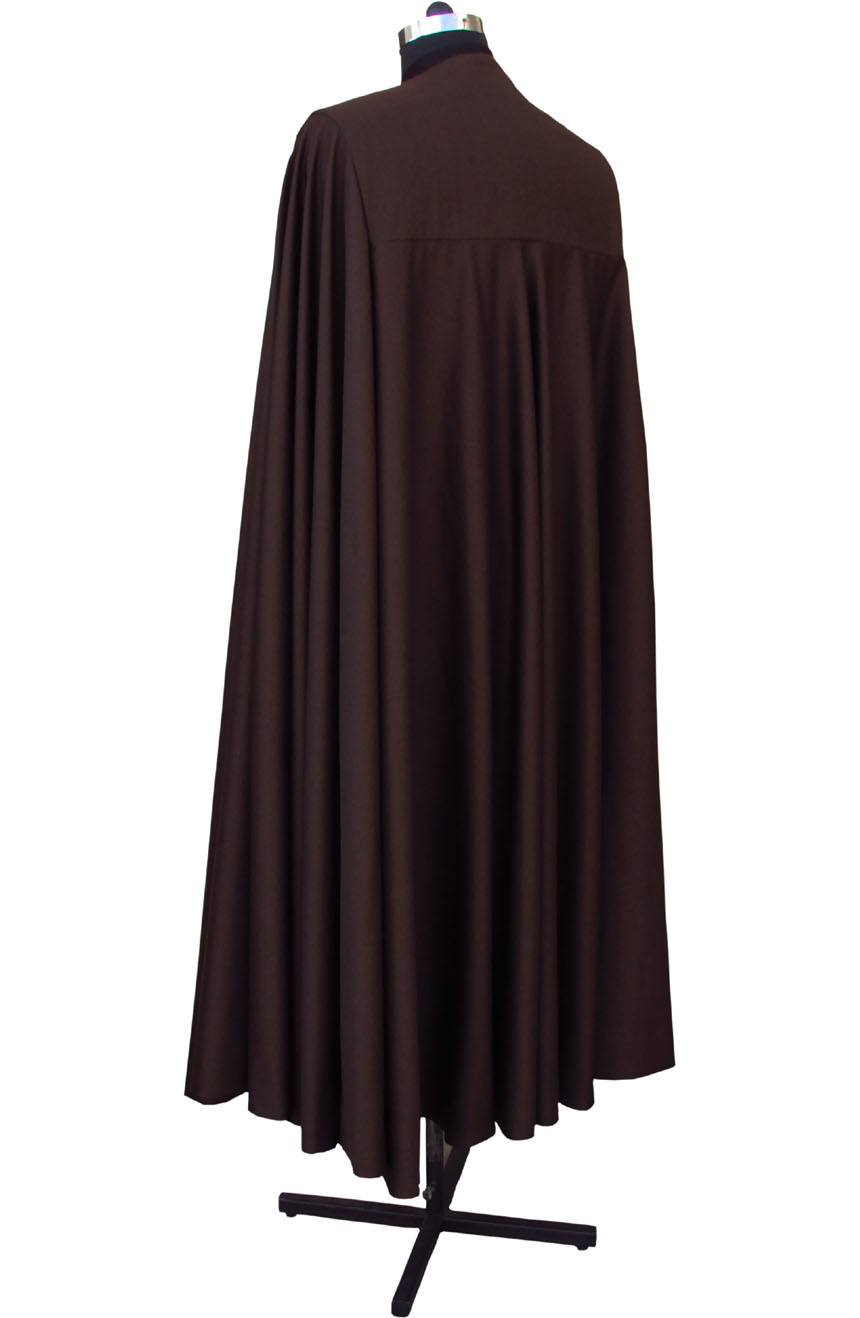 Count Dooku cape from Star Wars. A full-back view.