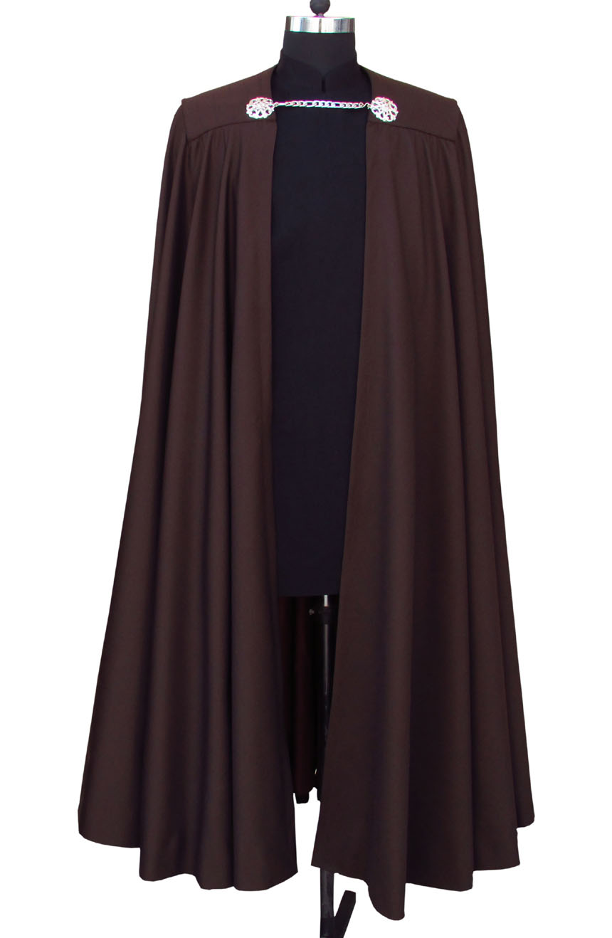 Count Dooku cape and tunic costume from Star Wars. A full front view.