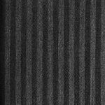 Super 130s' high twist wool fabric also known as fresco wool in black with grey stripes.