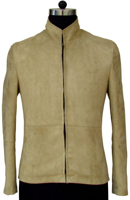 James Bond Morocco matchless suede jacket from Spectre, a full front view.