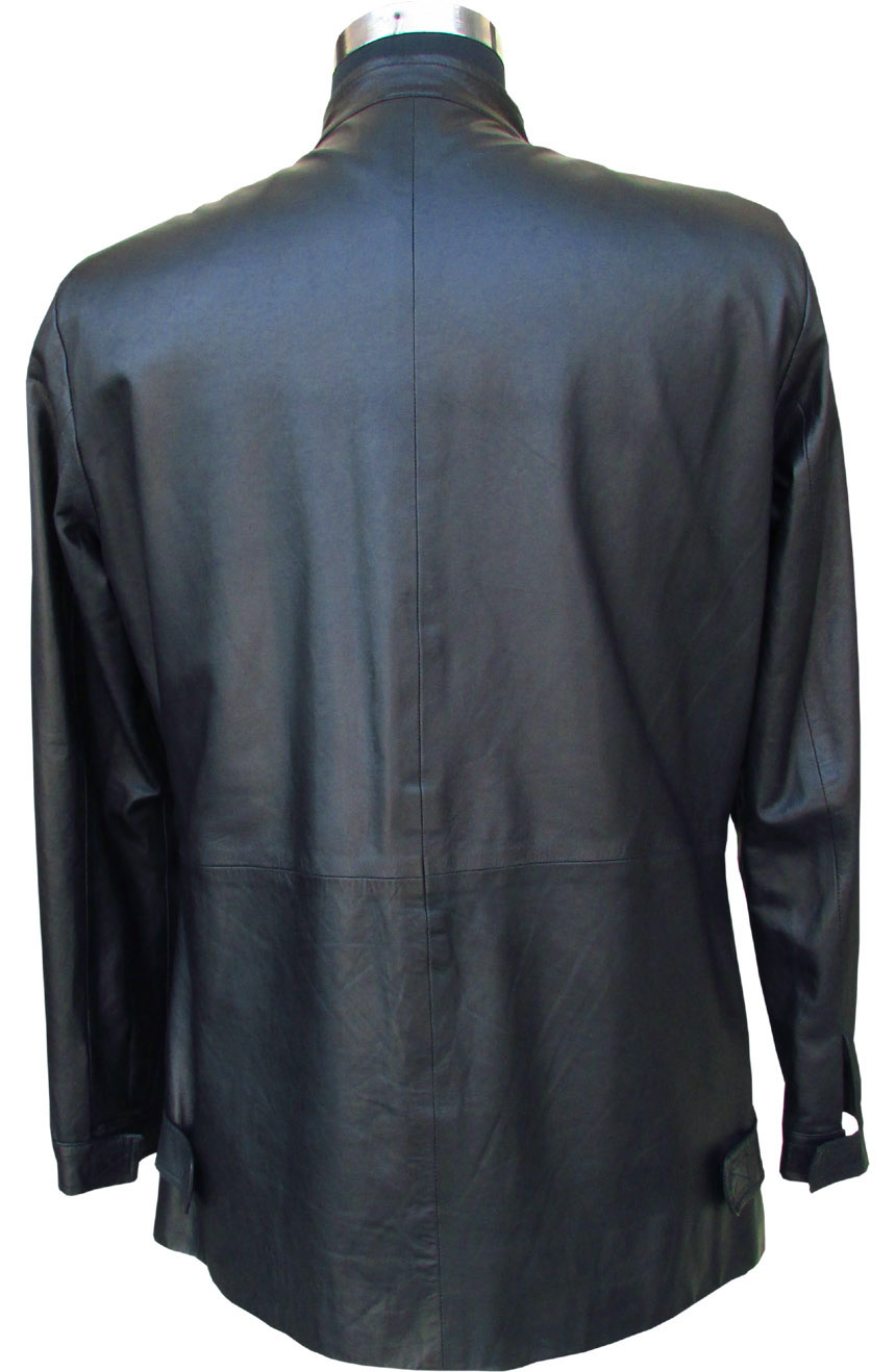 Tom Cruise leather jacket replica from Minority Report. A full back view.
